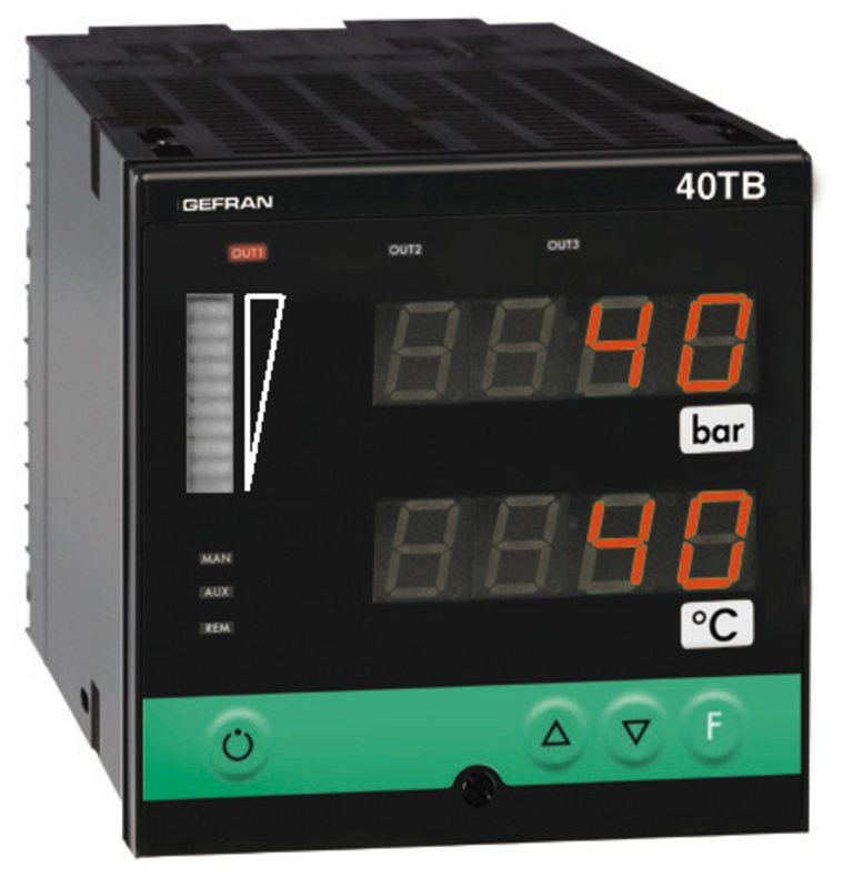 GEFRAN指示器和报警单元 Multichannel  40TB Indicator/Alarm Unit for temperature and pressure inputs, double display
