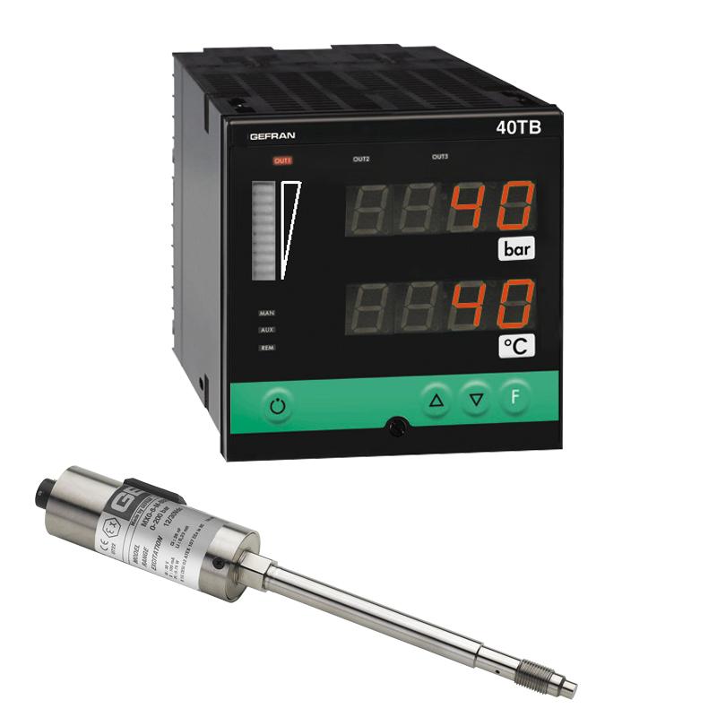 GEFRAN熔化高温压力传感器M8 Pressure monitoring set (1/4 DIN)