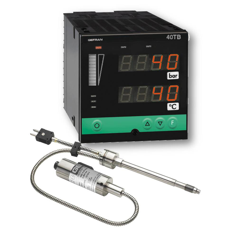 GEFRAN温控器W9 Pressure and temperature monitoring set (1/4 DIN)