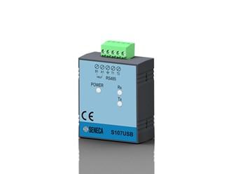 意大利Seneca RS485/USB光隔离串行转换器,便携式S107USB