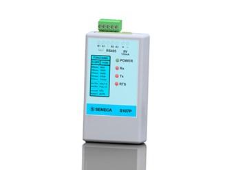 意大利Seneca   RS232 - RS485/422串行转换器,便携式,具有半双工/全双工通信S107P