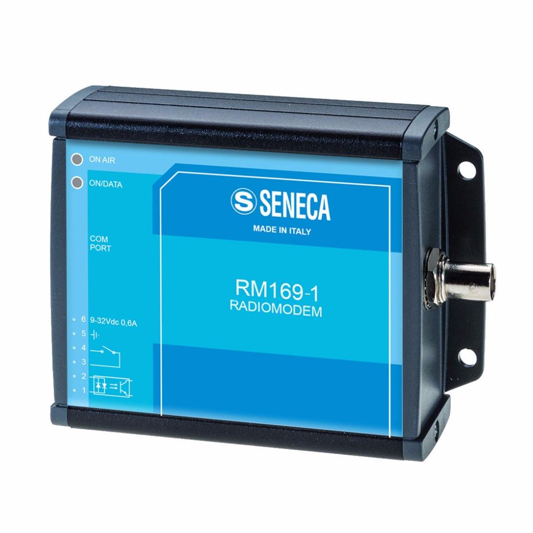 意大利Seneca无线电调制解调器169兆赫,RS232/RS485接口,符合指令2014/53/欧盟(红色)RM169-1