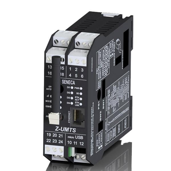 意大利Seneca HSPA+五波段数据记录器,配有全球定位系统接收器、内置输入/输出、遥控功能和高级编程语言Z-UMTS