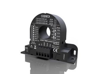 意大利Seneca交流/DC无接触TRMS电流(100安)传感器,霍尔效应为0..10 V AO和ModBUS接口 T201DCH100-M